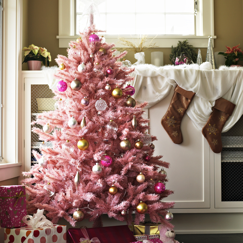 30 sapins de no l pour trouver son style d co un sapin de no l rose bonbon d co - Deco sapin de noel ...