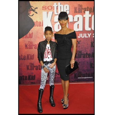 Willow Smith et Jada Pinkett Smith à l'avant-première de Karaté Kid