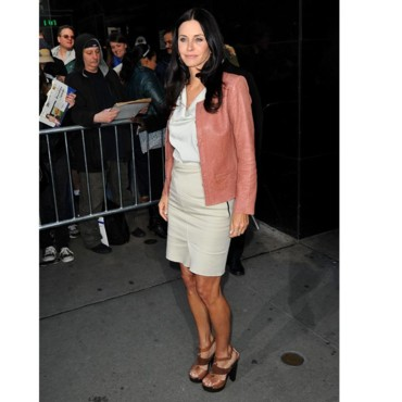 Courteney Cox chez David Letterman