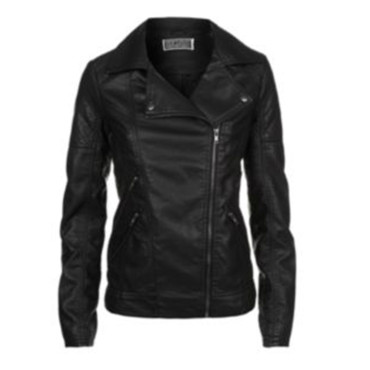 Perfecto en cuir noir New Look à 49,99 euros