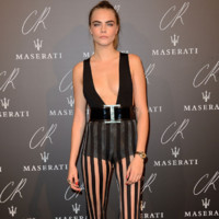 Cara Delevingne à la « CR Fashion Book Party » au Peninsula Hotel à Paris le 30 Septembre 2014.