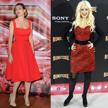 Top Flop robe rouge Christina Aguilera Dannii Minogue