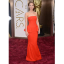 Jennifer Lawrence en Christian Dior Couture lors des Oscars 2014 le 2 mars à Los Angeles