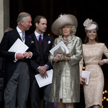Kate Middleton, William, le Prince Charles et Camilla Parker Bowles à la Cathédrale Saint-Paul le 5 juin 2012