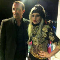 Photo : Lady Gaga et Nikos Aliagas au Festival de Cannes