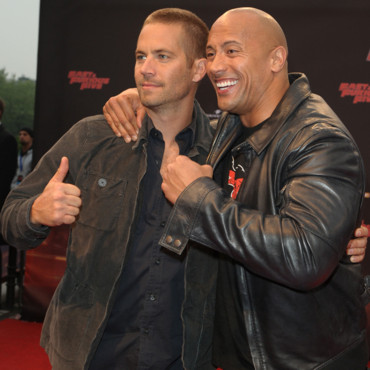 Paul Walker et Dwayne Johnson à la première de Fast Five en avril 2011