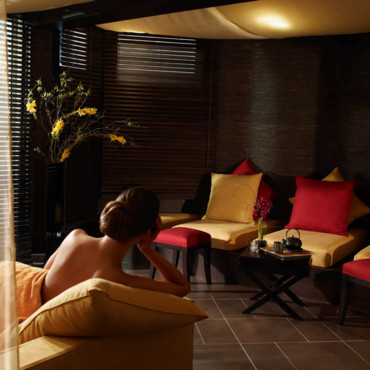Reportage photo visite guid e au spa nuxe 34 rue for Salle de relaxation