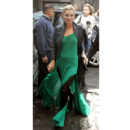 Kate Moss en robe longue verte Kate Moss for Topshop