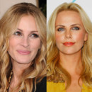 match beauté Julia Roberts Charlize Theron maquillage
