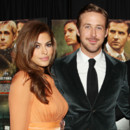 Eva Mendes et Ryan Gosling à la première de The Place Beyond The Pines le 28 mars 2013 à New York