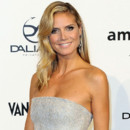 Looks beautés Fashion Week Milan Gala Amfar Heidi Klum