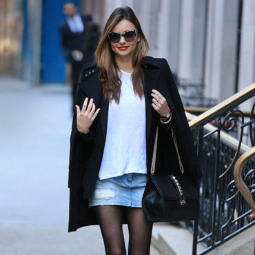 look du jour miranda kerr rock 39 n 39 chic new york mode. Black Bedroom Furniture Sets. Home Design Ideas