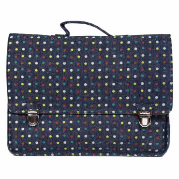 Grand cartable Denim pois Miniseri