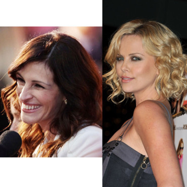 match beauté Julia Roberts Charlize Theron sourire