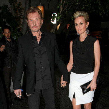 Laeticia Hallyday et Johnny  la soire pr-Oscars