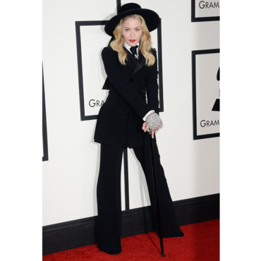 Madonna en Ralph Lauren aux Grammy Awards 2014 le 26 janvier 2013 à Los Angeles