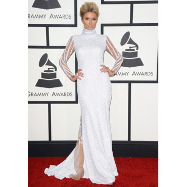 Paris HIlton aux Grammy Awards 2014 à Los Angeles le 26 janvier