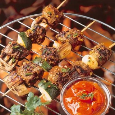 brochettes marinees coulis tomate