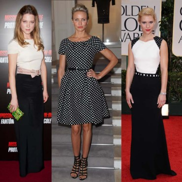 Tendance mode de stars black and white
