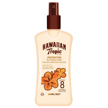 Solaires Hawaiian Tropic : lotion corps SPF8