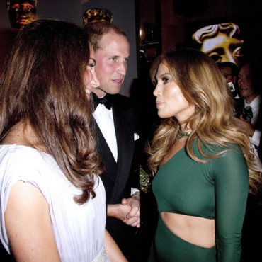 Kate Middleton et Jennifer Lopez aux Bafta