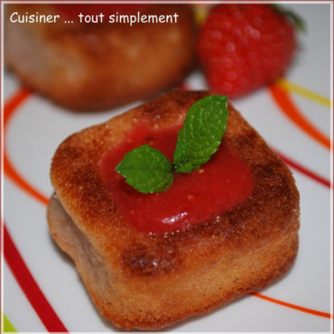 Financier ... couleur Fraise