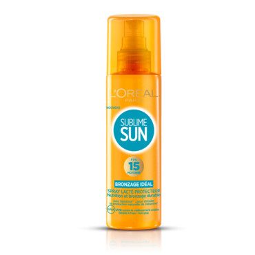 Sublim sun L'Oréal Paris spray lacté indice 15