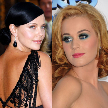Katy Perry blonde Charlize Theron brune montage