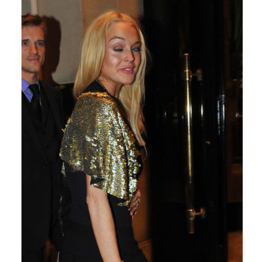Lindsay Lohan à la Vogue Party à l'hôtel Crillon 2009