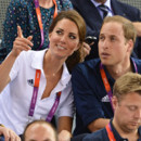 Kate Middleton et le prince William lors des JO de Londres 2012
