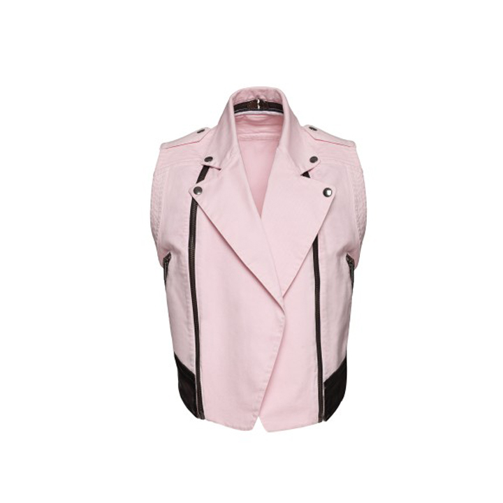 Le perfecto sans manches rose Karl Lagerfeld 399 euros
