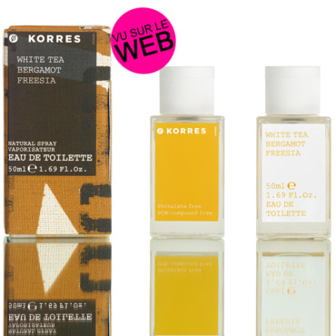 Parfum naturel Korres White tea bergamot freesia
