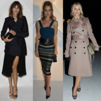 Rosie Huntington-Whiteley, Alexa Chung, Mélanie Laurent... Toutes chez Burberry !