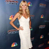 "Heidi Klum au red carpet de l'émision ""America's Got Talent"" à New York le 30 Juillet 2014."