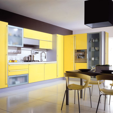 La d co jaune astuces d co for Deco cuisine jaune et gris