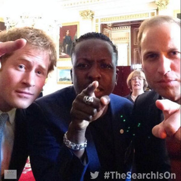 Selfie des princes William et Harry