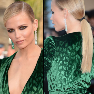 Natasha Poly en queue de cheval au Festival de Cannes 2012