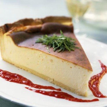 Cheese-cake au coulis de framboise
