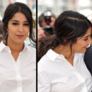 Leila Bekhti en queue de cheval au Festival de Cannes 2012