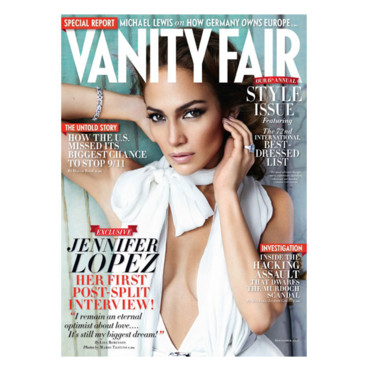 Jennifer Lopez en couverture de Vanity Fair