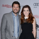 Alexis Denisof et Alyson Hannigan lors du déjeuner Women in Entertainment organisé par le Hollywood Reporter à Los Angeles en décembre 2013