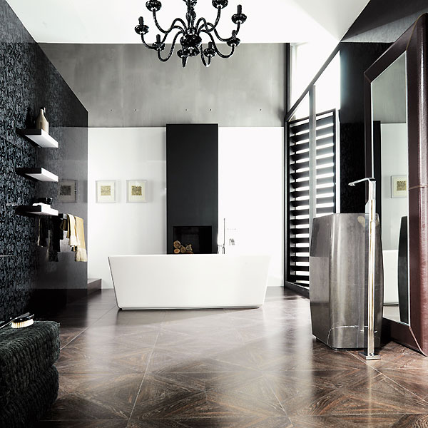 salle de bain porcelanosa des nouveaut s chic pour le printemps ambiance crystal dark. Black Bedroom Furniture Sets. Home Design Ideas