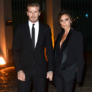 David Beckham et Victoria Beckham à la soirée The Global Fund pendant la fashion week de Londres le 16 septembre 2013