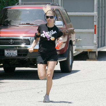 Cellulite Fergie fait son jogging