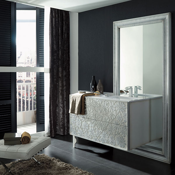 salle de bain porcelanosa des nouveaut s chic pour le printemps composition eden argent. Black Bedroom Furniture Sets. Home Design Ideas