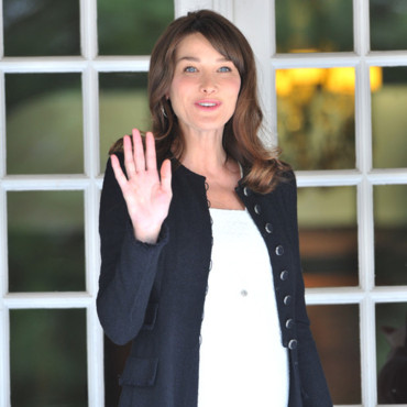 Carla Bruni Sarkozy enceinte au G8 le 26 mai 2011