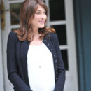 Carla Bruni Sarkozy enceinte officiel  Deauville