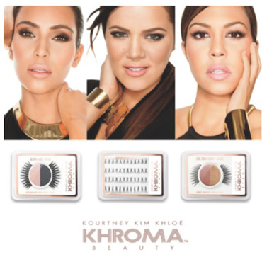 Collection de maquillage Khroma Beauty des sœurs Kardashian, octobre 2012