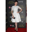 Ginnifer Goodwin virginale en robe dentelle Monique Lhuillier