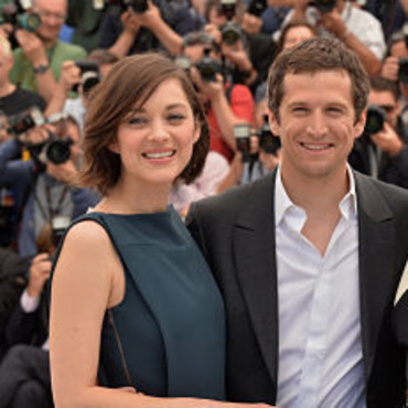 "Marion Cotillard et Guillaume Canet, le 20 mai 2013, à Cannes lors du photo-call de ""Blood Ties""."